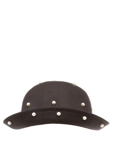 DeFacto Taş Detaylı Fötr Şapka Siyah